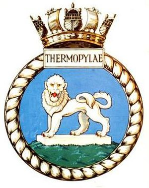 HMS Thermopylae (P355) - Image: THERMOPYLAE badge 1