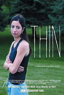 "Release poster depicting Shelly, one of the documentary participants, with the tagline, ""If it takes dying to get there, so be it."""