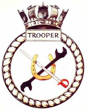 HMS Trooper (N91) - Image: TROOPER badge 1