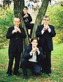 Tale Ognenovski, clarinetist and composer with his Quartet in Vodno Mountain, Skopje, Republic of Macedonia in 2000.jpg