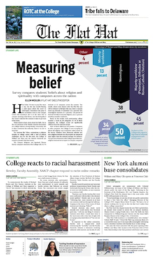 The Flat Hat January 23 Front Page.png