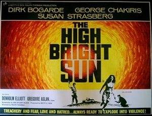 The High Bright Sun - Original British quad poster by Eric Pulford