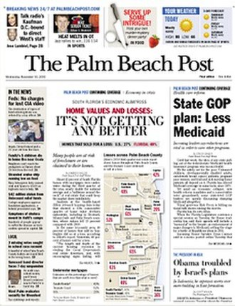The Palm Beach Post - Image: The Palm Beach Post front page