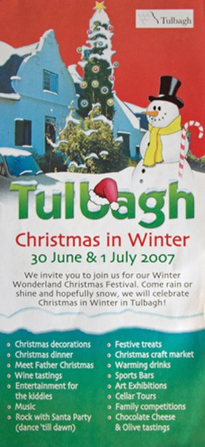 Christmas in July - Promotional material for 2007 Christmas in Winter festival in Tulbagh, South Africa