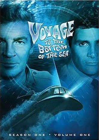 Voyage to the Bottom of the Sea (TV series) - Cover art from the 2006 DVD release of the 1st season of Voyage to the Bottom of the Sea showing stars Richard Basehart and David Hedison, with the submarine, Seaview (center)