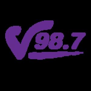 """WDZH - """"V 98.7"""" HD2 logo"""