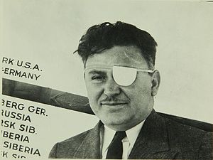 """Air Hawks - Wiley Post  only appeared briefly in Air Hawks, but his fame as a pilot was intended to help """"sell"""" the film."""