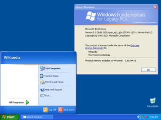 Windows Fundamentals for Legacy PCs thin client operating system from Microsoft