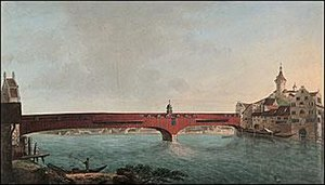"Grubenmann - ""The Bridge at Schaffhausen"" by Johann Heinrich Bleuler"