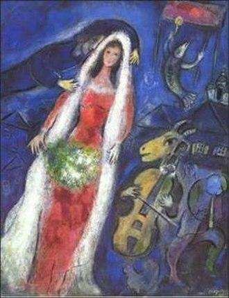 Gouache - Image: 1950 Chagall La Mariée