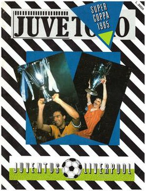 1984 European Super Cup - Match programme cover