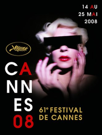 2008 Cannes Film Festival - Official poster of the 61st Cannes Film Festival featuring a photo of model Anouk Marguerite and photographed by Pierre Collier.