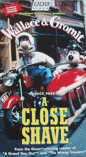 A Close Shave - Original USA VHS artwork cover.