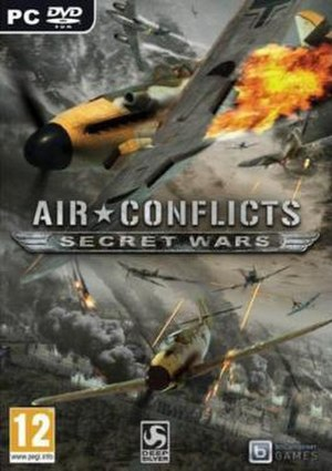 Air Conflicts: Secret Wars - Box art of European PC version