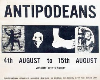 Antipodeans - Poster for the Antipodeans Exhibition