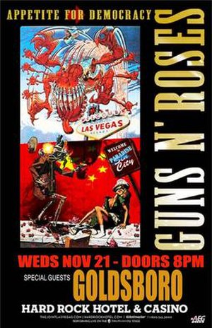 Appetite for Democracy (Tour) - Poster for the November 21st show at the Hard Rock Hotel and Casino