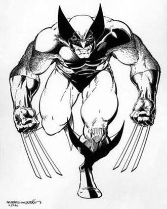 Arthur Adams (comics) - Adams' association with the X-Men franchise early in his career included a number of posters, including this iconic 1986 image of Wolverine, inked by Terry Austin, which also became a bestselling retailer standee.