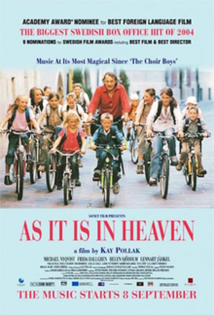 As It Is in Heaven - Theatrical release poster