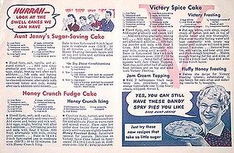 Aunt Jenny's Real Life Stories - Aunt Jenny's recipes (1943)