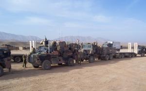 Australian resupply convoy from Mentoring Task...