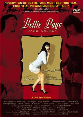 Bettie Page: Dark Angel - Bettie Page: Dark Angel DVD cover