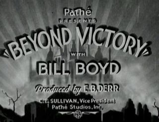 <i>Beyond Victory</i> 1931 film direct by John S. Robertson