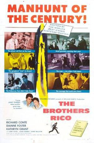 The Brothers Rico - Theatrical release poster