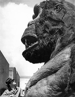King Kong - Merian C. Cooper glances up at his creation.