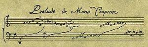 Unmeasured prelude - A sample of Louis Couperin's unique notation for unmeasured preludes.