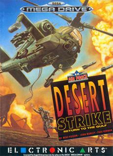 <i>Desert Strike</i> shoot em up video game released by Electronic Arts (EA) in February 1992 for Segas Mega Drive
