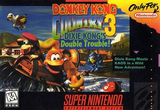 Donkey Kong Country 3: Dixie Kong's Double Trouble! - North American box art