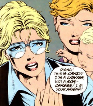 Circe (comics) - Circe as Donna Milton discovering her true identity. Art by Mike Deodato.