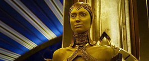 Kismet (Marvel Comics) - Elizabeth Debicki as Ayesha in the 2017 film Guardians of the Galaxy Vol. 2
