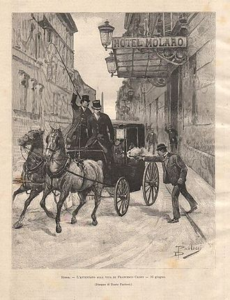 1894 in Italy - The failed attempt to kill Crispi by the anarchist Paolo Lega on June 16, 1894