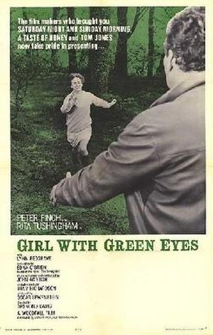 Girl with Green Eyes - Theatrical release poster