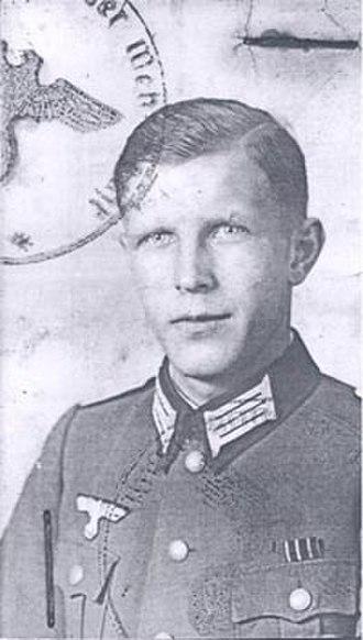 Gisbert Hasenjaeger - Image: Gisbert Hasenjaeger as a soldier in World War 2