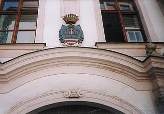 Keglevich Palace - Coat-of-arms above the portal