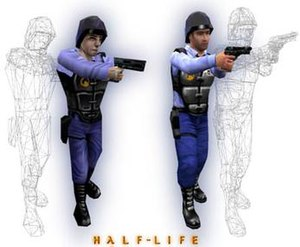 Half-Life: Blue Shift - The High Definition pack placed higher quality models in the game, doubling the number of polygons used in the original models.