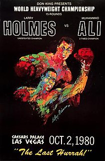 Larry Holmes vs. Muhammad Ali Boxing competition