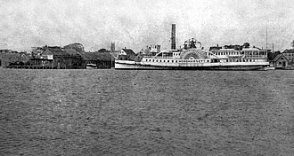 Monohansett (steamboat) - The steamer Monohansett in Edgartown Harbor, 1896.