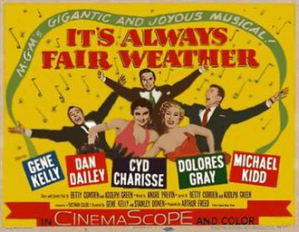 It's Always Fair Weather - Image: It's Always Fair Weather (1955 film) poster (yellow background)