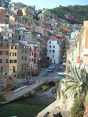 Riomaggiore, the first village of the Cinque T...