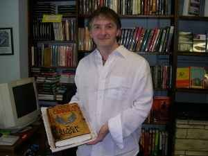 John Connolly (author) - John Connolly signing a copy of The Black Angel, 2005