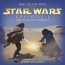 The cover of the one-track promotional release of Duel of the Fates