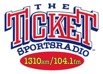 KTCK (AM) - The Tickets station logo used 2001-2013 when it simulcast on KTDK 104.1 FM.