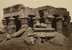 Temple of Kom Ombo - Image: Komombo (before restoration)