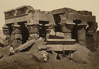 Temple of Kom Ombo - Image: Komombo (before restoration)