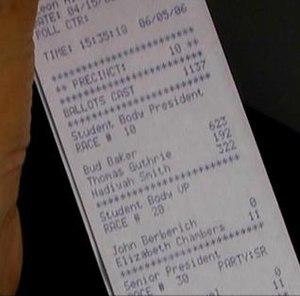 Hursti Hack - Actual paper tape from initial hack