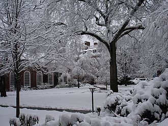 Lowell House - Lowell House courtyard in winter.
