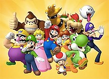 The main characters of the Mario franchise. (left to right)  Wario e6714938173e